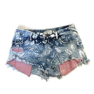 FREE PEOPLE Kiss Me Bleached Shorts